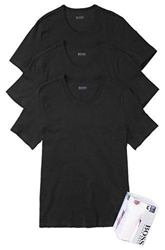 BOSS Hugo Boss Herren 3er Pack T-Shirt Shirt SS RN 3P BM 50236738, Farbe:Schwarz;Größe:S