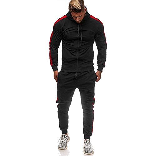 N/AA Sudadera de manga larga con capucha y cordón elástico para hombre