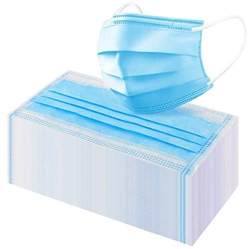 50 pezzi usa e getta, a 3 strati, colore: Blu