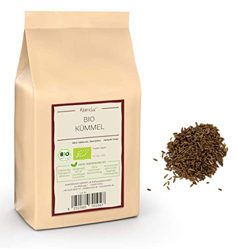 250g di carvi intero BIO - semi di cumino intero biologico altamente aromatico, senza additivi - perfetto come un cumino calmante - in confezione biodegradabile