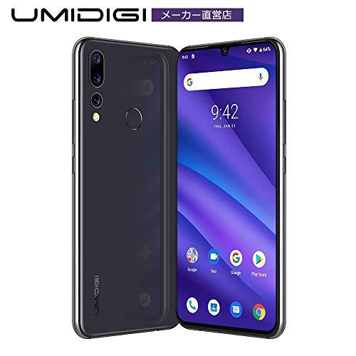 UMIDIGI A5 PRO simフリー スマホ Android 9.0 トリプルカメラ 最強のコスパ 6.3インチ FHD+水滴型ノッチ付きディスプレイ 16MP+8MP+5MP 4150mAh 4GB RAM + 32GB ROM Helio P23オクタコア DSDV対応 グローバルバージョン 顔認証 指紋認証 技適認証済み AUキャリア不可(グレー)