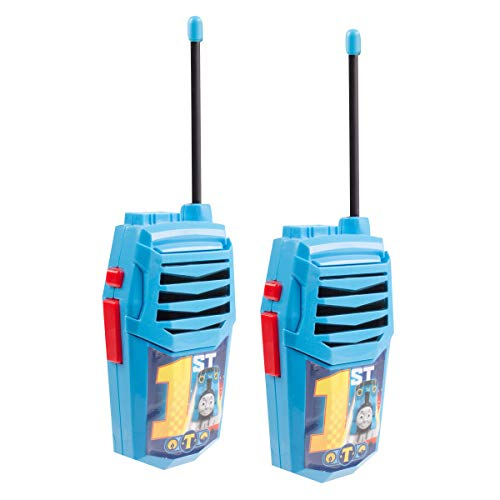 Thomas and Friends Night Action Molded Walkie Talkies for Kids WT2-01082   Safe and Flexible Antenna, 1000ft Range, Easy-to-Use Power Switch, Belt Clip, Pack of 2, Stylish Appearance, 2-Pack