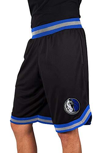 NBA Herren Mesh Basketball Shorts Woven Active Basic, Team Logo schwarz, Herren, GSM3547F, schwarz, Small