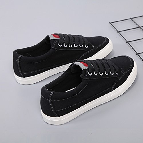YaNanHome Chaussures Bateau Chaussures Homme Toile Chaussures Hommes Style Coréen Sauvage Coupe Basse Hommes Chaussures Casual Chaussures (Color : Black, Size : 44)