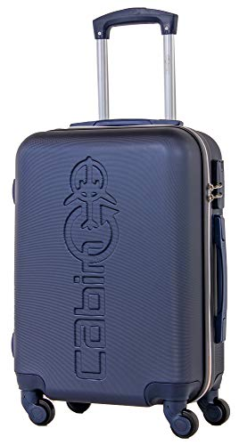 CABIN GO 5585 Valigia Trolley rigido in ABS grande valigia con ruote, Idoneo Ryanair e Easyjet 55x40x20, Bagaglio a Mano Ultra Leggero in ABS con Chiusura TSA