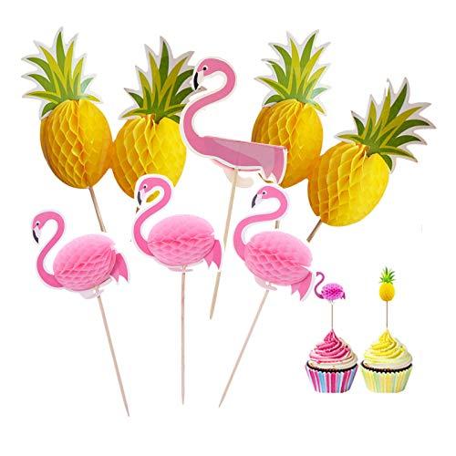 100 Cake Topper Flamenco Una Vez Cake Topper Brochetas de Bambú para Cócteles Pinchos de Madera para Decoración de Fiestas para Tartas Decoración Cupcakes Cócteles Fruta Decoración Banquete de Boda