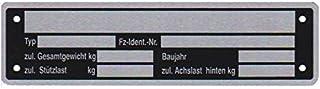10 x blanco typeplaatje aanhangertypeplaatje neutrale hanger versch. 2