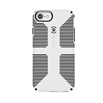 Speck Products CandyShell Grip iPhone SE 2020 Case/iPhone 7 Case  Also Fits iPhone 6 and iPhone 6S  White/Black