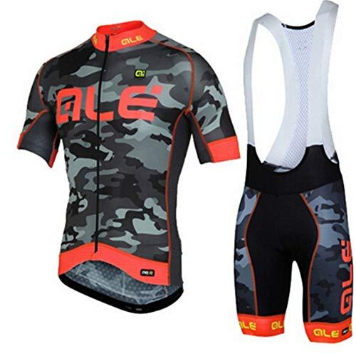 Abbigliamento Da Ciclismo Autunnale Da Uomo, Tute Da Ciclismo A Maniche Corte, Imbottitura In Gel 3D, Set Completo Elegante, Abbigliamento Da Ciclismo Da Uomo (1,XL)