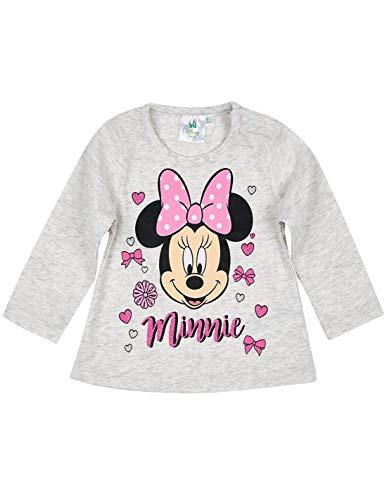 Minnie T-Shirt Manches Longues bébé Fille Gris de 3 à 24mois - Gris, 3 Mois