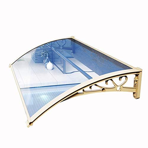 LIANGLIANG Vordach Haustür Überdachung, Blaues PC-Ausdauerbrett Halterung Aus Aluminiumlegierung Anti-UV Klimaanlage Markise Silent Baldachin Im Freien (Color : Gray, Size : 200x60cm)