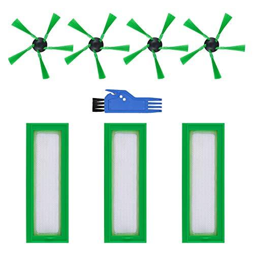 Filtrar Cepillo Piezas de Repuesto Accesorios Conjunto por Aspirador Robot Vorwerk Kobold VR200 VR300 (8 Piezas)