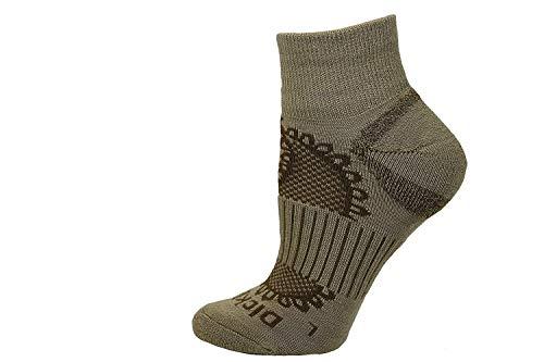 Dickies Paisley All Season Wollmischung Viertel Socken, Khaki, 1 Paar