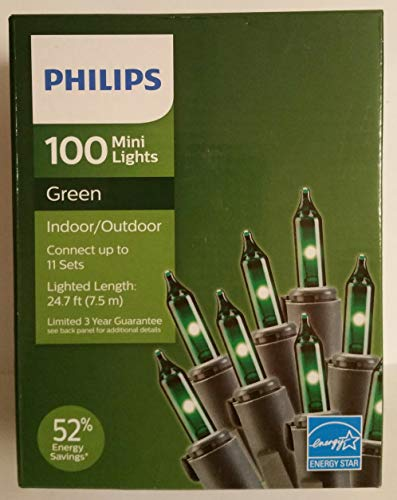 Philips 100 Green Mini Christmas Lights