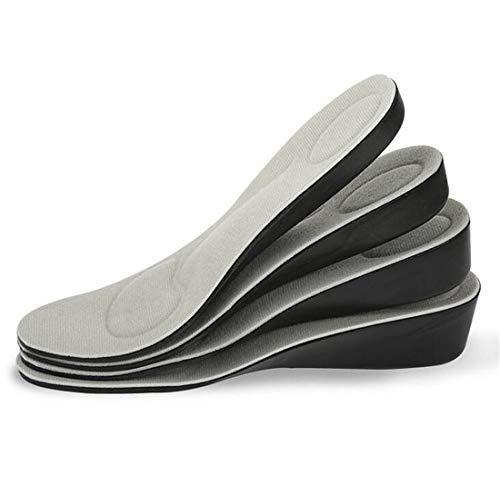 Addfect Einlegesohlen Erhöhung Memory-Schaum Schuheinlagen mit Dämpfende Unsichtbar Fersenerhöhung Stoßdämpfung Fußbogenstütze Atmungsaktive für Männer Frauen (1.5 cm, S (34-40 EU))