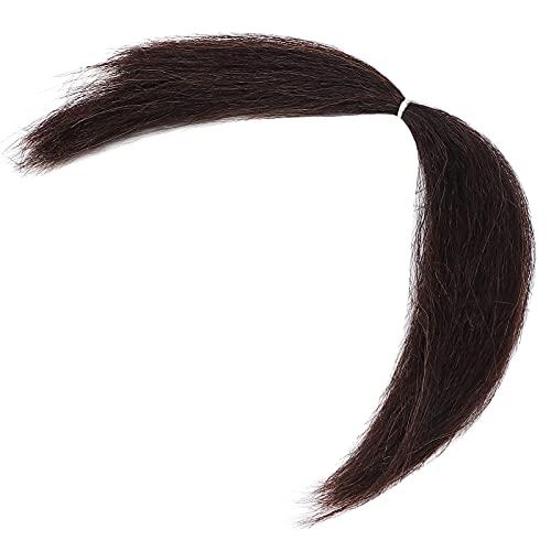 8g barba de cara falsa, vello facial, peinado y retoque según sea necesario lana sintética de alta calidad barba de cara falsa bigote hombres adultos maquillaje de película efecto especial