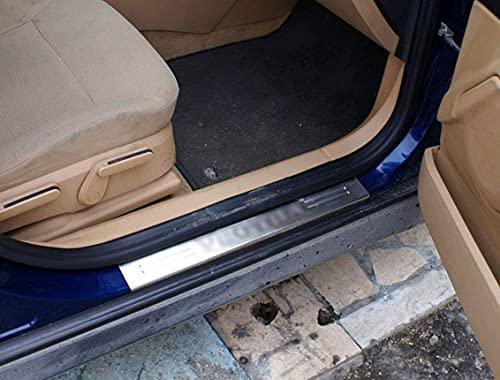 Para Vectra C 2002 – 2008 cromo Escrito puerta cubierta de la placa protectora de acero inoxidable 4 piezas