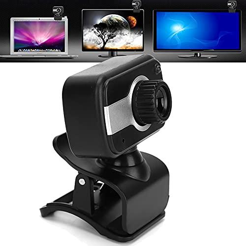 Snufeve6 Fotocamera per Computer, Webcam HD da 0,3 MP, Webcam in Streaming USB con Rotazione A 360 Gradi con Microfono, Videocamera per PC Portatile per Chiamate, Conferenze, Giochi, Lezioni Online