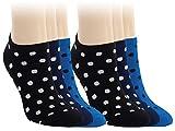 Vitasox 15327 Damen Sneaker Socken Baumwolle bunt Sneakersocken Füßlinge Pünktchen ohne Naht 6 Paar 35/38