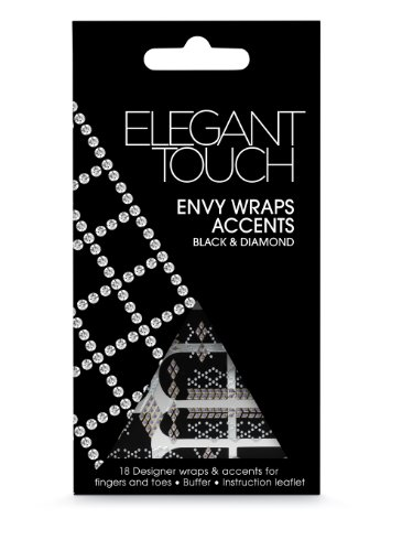 Elegant Touch Envy Wraps selbstklebend, schwarz und Diamant-Akzente