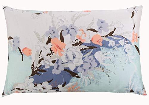 HNLHLY kussensloop Extra Large zijde met ritssluiting, kussensloop van zijde, bloemen, naturel, 1 stuk