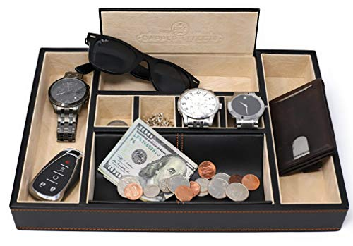 Dapper Effects Valet Tray - EDC Jewelry Organizer for Your Everyday Carry Items