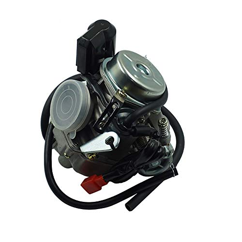 ZXLLNEUR Motorcycle Carb Carburateur for Moped ATV Go Kart Roketa Sunl Tank Scooter 24mm 125 150CC GY6 (Color : Black)