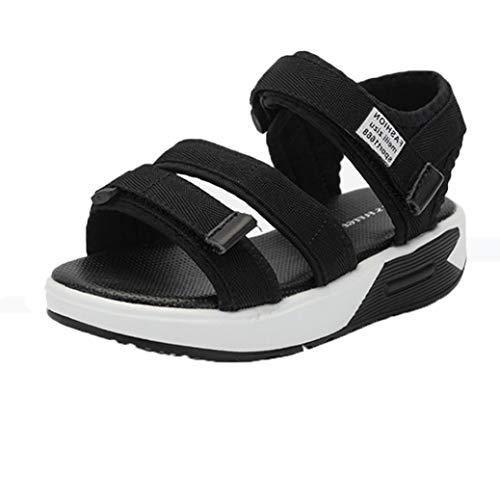 Sandali Casual per Bambini Sandali da Spiaggia Estivi Comodi Open Toe Slip Cintura Piatta Aperta con Sandali scolastici Sandali Sportivi all'aperto