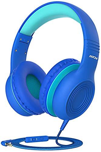 Cuffie per bambini, Mpow CH6, limite di volume di 85 dB, Cuffie con filo sulle orecchie Cuffie con microfono da 3,5 mm per bambini Ragazze e ragazzi, Cuffie per bambini Cuffie per bambini da viaggio