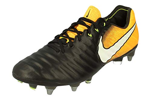 Nike Tiempo Legend VII SG-Pro Herren Football Boots 897753 Soccer Cleats (UK 8.5 US 9.5 EU 43, Black White Laser orange 008)