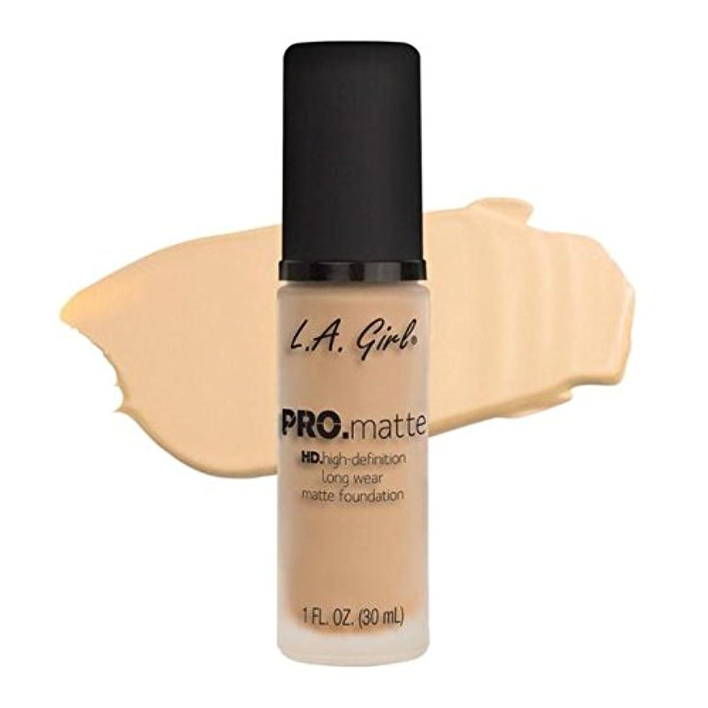 競合他社選手反毒車LA Girl PRO.mattte HD.high-definition long wear matte foundation (GLM671 Ivory)