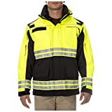 5.11 Tactical Responder High-Visibility Parka Jacket, Waterproof, Reflective Tape, Dark Navy, M, Style 48073