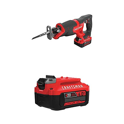CRAFTSMAN V20 Reciprocating Saw Cordless Kit with EXTRA Lithium Ion...