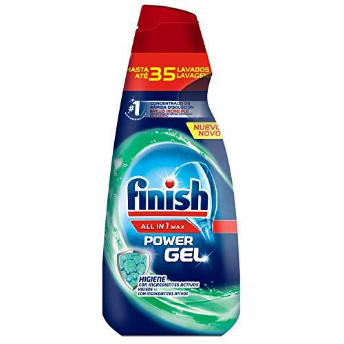 Finish All in 1 Max Power Gel Higiene, Detergente Gel para el Lavavajilla - 35 lavados
