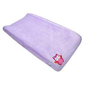 Coral Velvet Nursery Diaper Changing Table Cover Sheet Baby Girl Baby Boy Diaper Changing Pad Cover Sheet 1PC (Purple Owl)