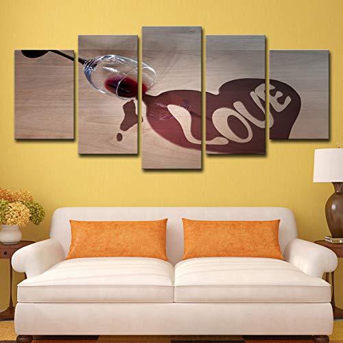 ZXFMT Leinwand Dekorative Malerei Stillleben Weinglas Liebe Malerei Wohnzimmer Wand Künstler Dekoration Hd Druck Leinwand Wandkunst Dekoration