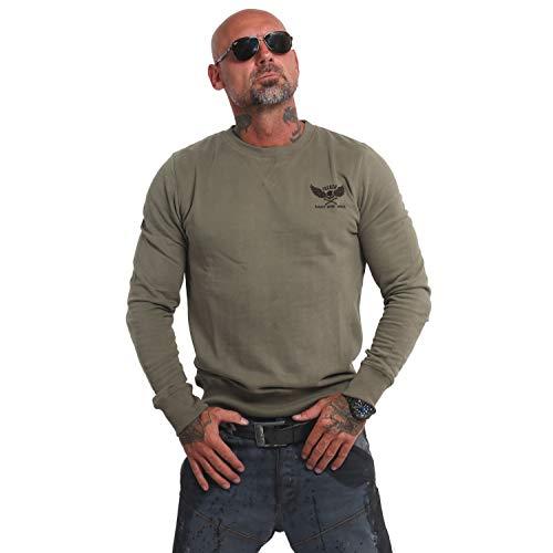 Yakuza Herren Basic Line EMB Pullover Sweater