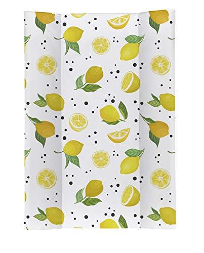 Rotho Babydesign Matelas à Langer avec Cales Happy Lemon Chill, Dès 0 Mois, TOP, 70 x 50, Coloré, 20099 0001 DB