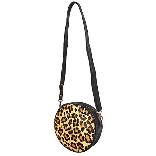 DSTRCT Wild And Free Ronde Schoudertas Black with Leopard