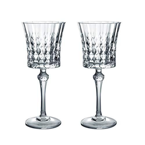 YY Home - Juego de 2 copas de vino con cristales y copas de cóctel y copas de vino tinto - Juego de copas de vino para bodas, fiestas de compromiso y fiestas de cumpleaños