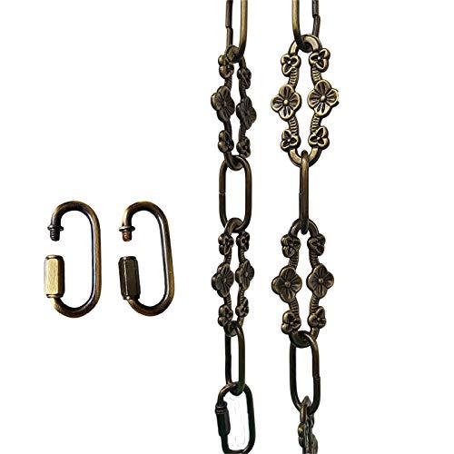 WOERFU 32 inch Antique Bronze Finish Decorative Plum Buckle Chain for Hanging, Lighting