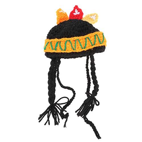 Abaodam Creative Pet Dog Cat Sombrero de vestido indio (varios colores)