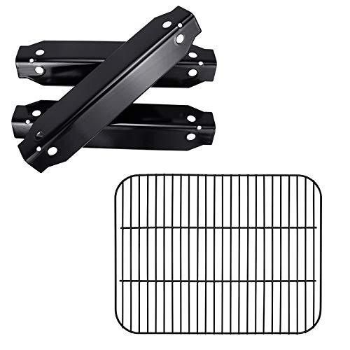 Hisencn Grill Replacement Parts for Dyna-Glo DGC310CNP-D, DGC310RNP-D, DGC310BNP-D, Porcelain Steel Heat Plates Tents, Cooking Grates Grids for Dyna-Glo 3-Burner Open Cart Propane Gas Grill
