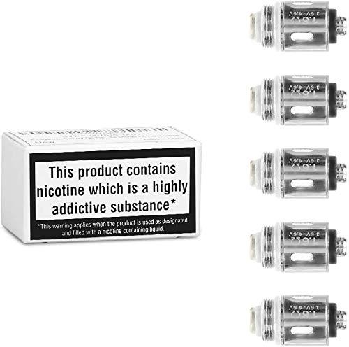 Ciberate Verdampferkopf für Q16 E Zigarette, kompatibel mit Ciberate Q16 Neue Version und Dritte Generation, ohne Nikotin, 5 Stücke