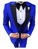 Prom Tuxedos for Men Slim Fit Peaked Lapel Wedding Groom Suits trajes de Novio para boda 2020