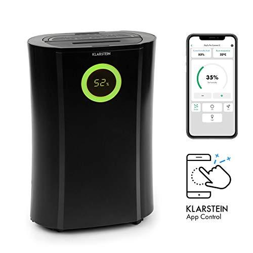 KLARSTEIN DryFy Pro Connect deshumidificador - deshumidificador de compresión, purificador de Aire Integrado con Filtro, ionizador y función UV, Interfaz WiFi, Potencia 370W, Negro