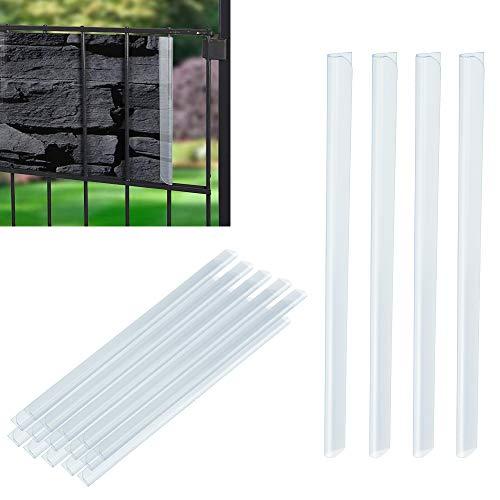 YOUKCDT 50 Stück Befestigungsclips PVC Universal Sichtschutzstreifen Sichtschutz Klemmschienen Transparent Clip für Befestigung Sichtschutzstreifen Sichtschutzfolie Garten Doppelstabmattenzaun