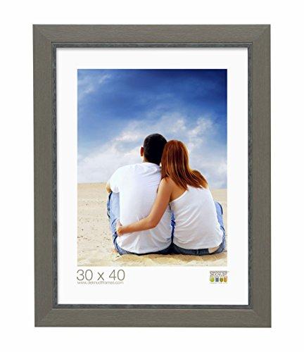 Deknudt Frames S45CF7-24.0X30.0 Bilderrahmen, Kunstharz, Holzoptik, 37,2 x 31,2 x 1,5 cm, Beige/Grau