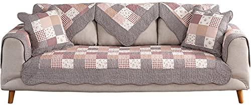 SUWIND Protector Sofa Chaise Longue/Funda De Sofá Funda De/Antideslizantes, para Perros, [Vendido por Pieza/No Es Un Juego Completo] Red 110×210cm(43.31×82.68in)