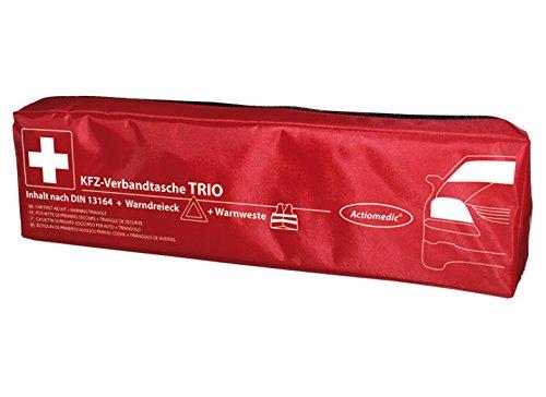 GRAMM medical Actiomedic Kfz-Verbandtasche Trio nach § 35h StVZO mit DIN-Füllung 13 164, Warnweste + Warndreieck